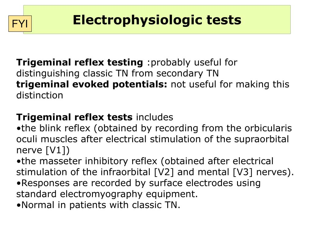 Electrophysiologic tests