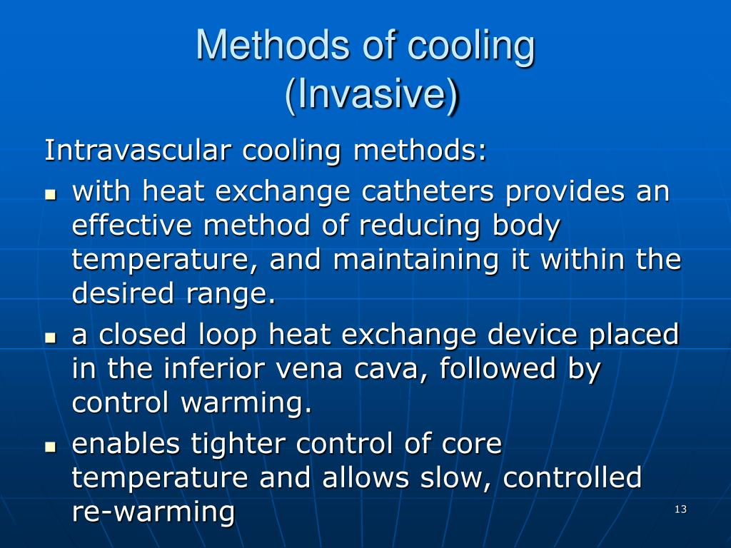 Methods of cooling