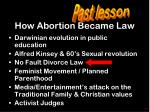 how abortion became law
