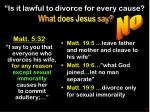 is it lawful to divorce for every cause
