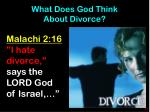 what does god think about divorce