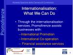 internationalisation what we can do
