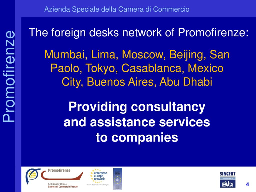 The foreign desks network of Promofirenze:
