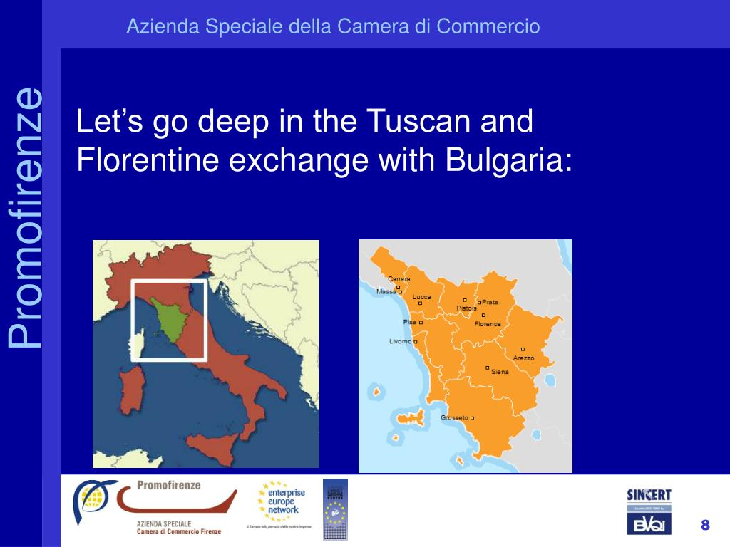 Let's go deep in the Tuscan and Florentine exchange with Bulgaria: