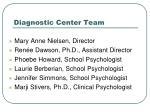 diagnostic center team