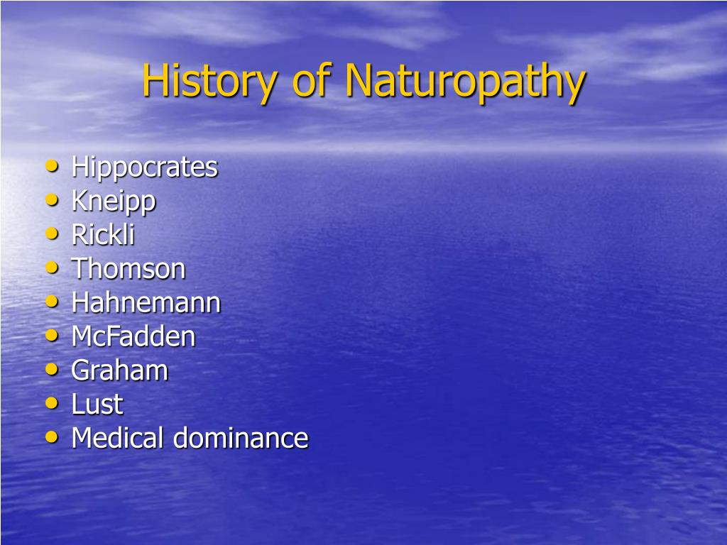 History of Naturopathy