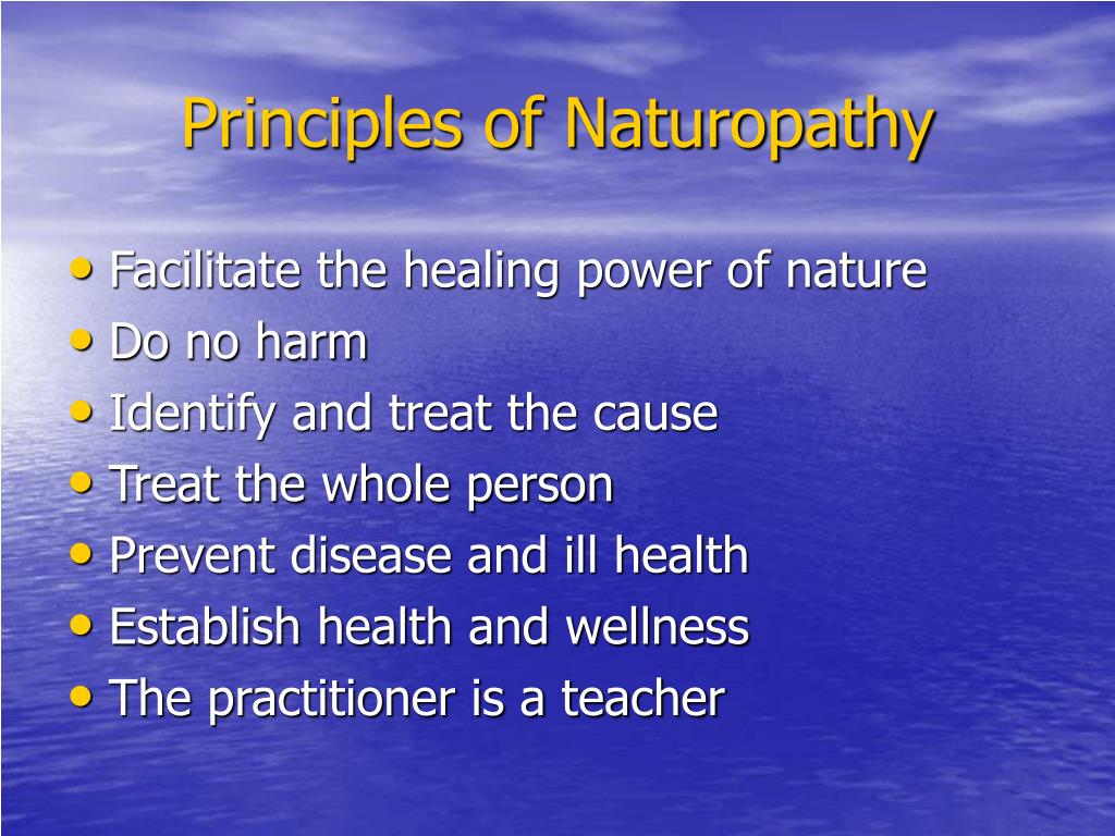 Principles of Naturopathy