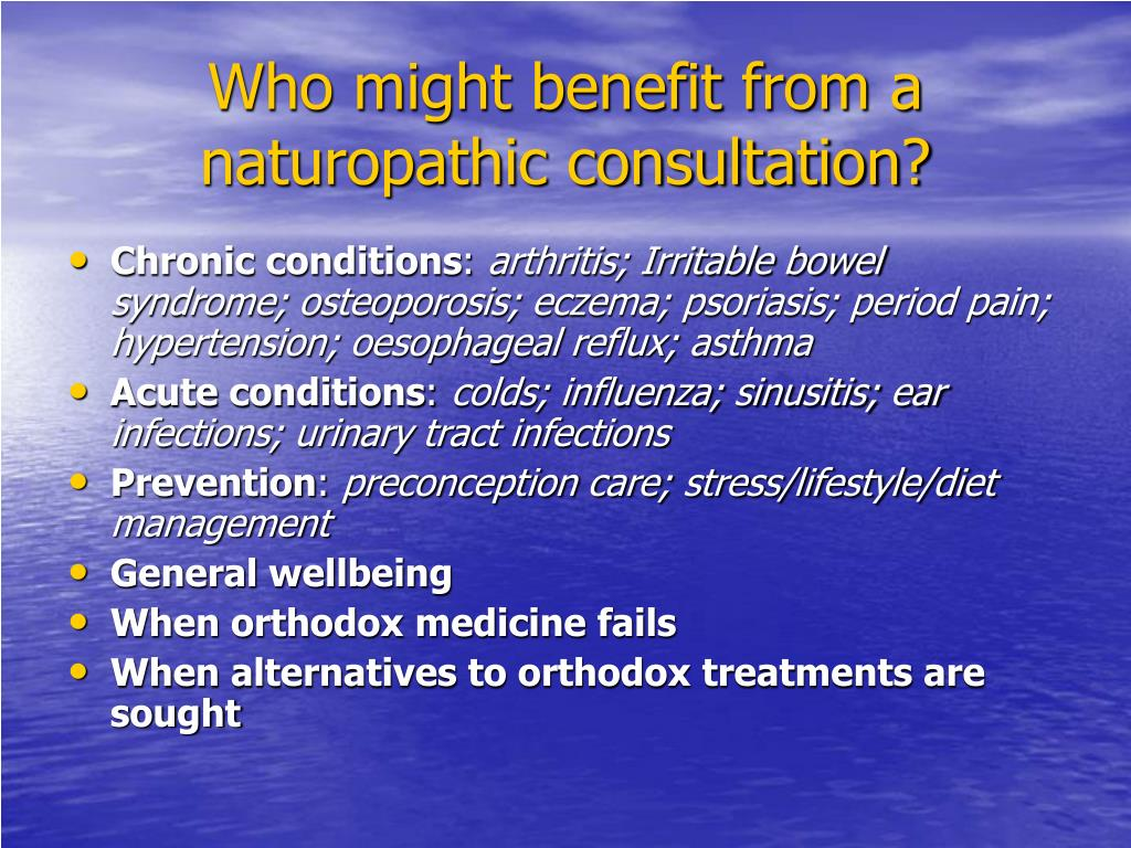 Who might benefit from a naturopathic consultation?