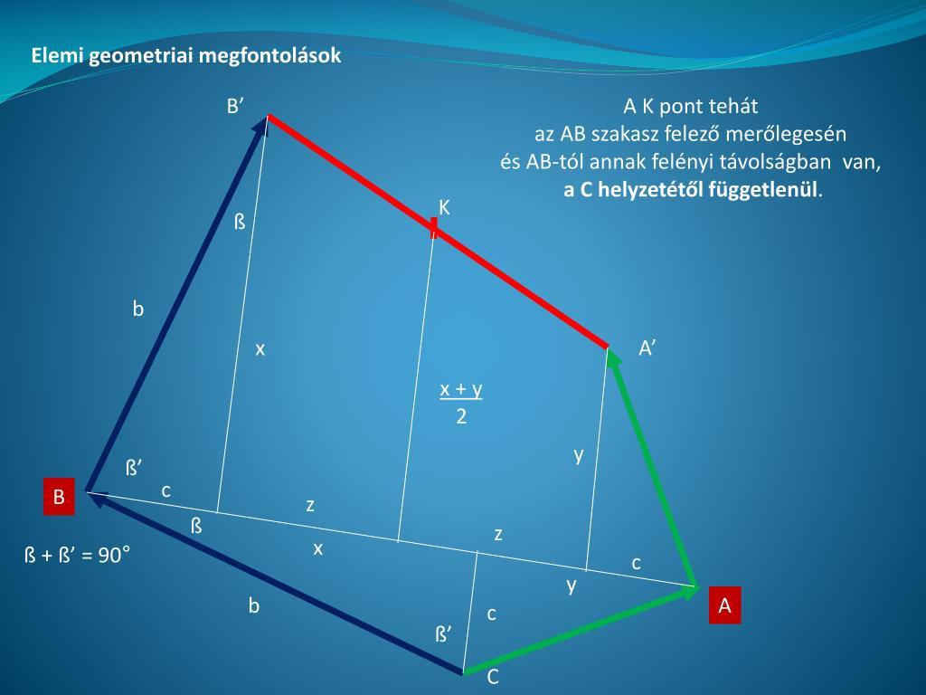 Elemi geometriai megfontolások