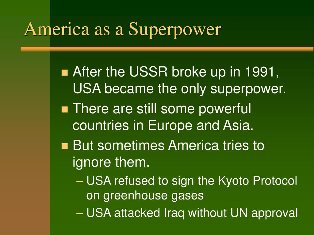 America as a Superpower