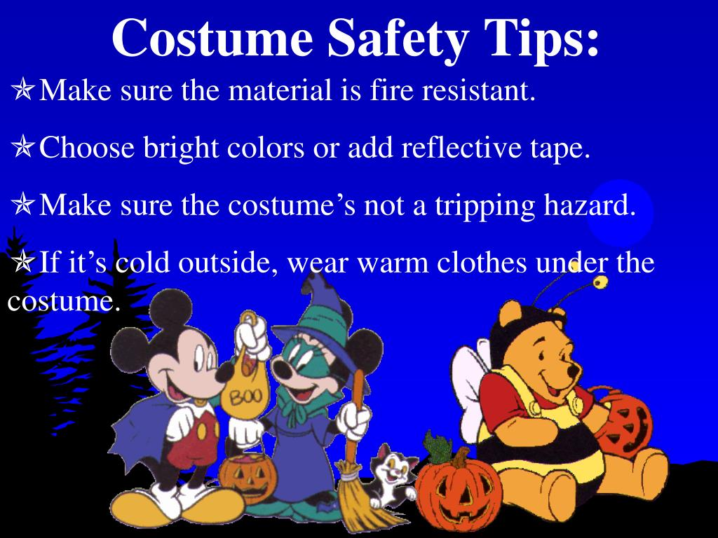Costume Safety Tips: