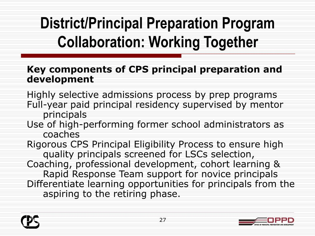 District/Principal Preparation Program Collaboration: Working Together