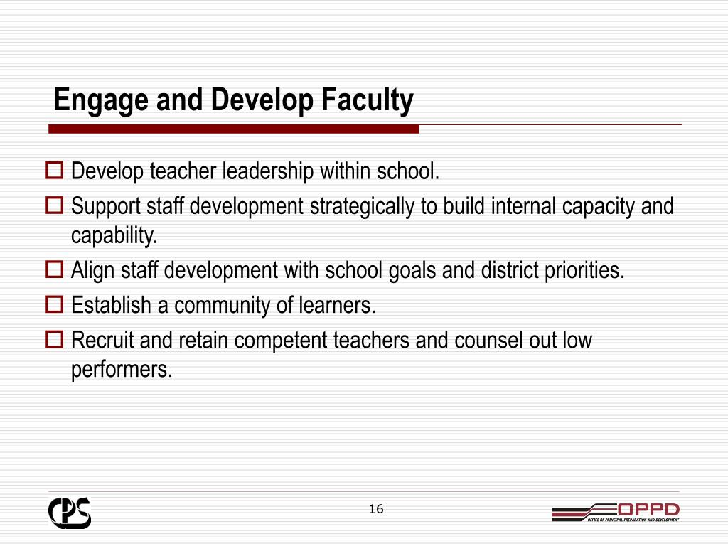Engage and Develop Faculty