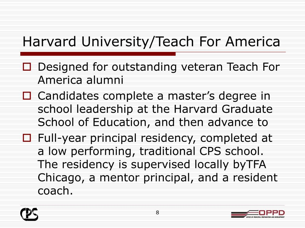 Harvard University/Teach For America