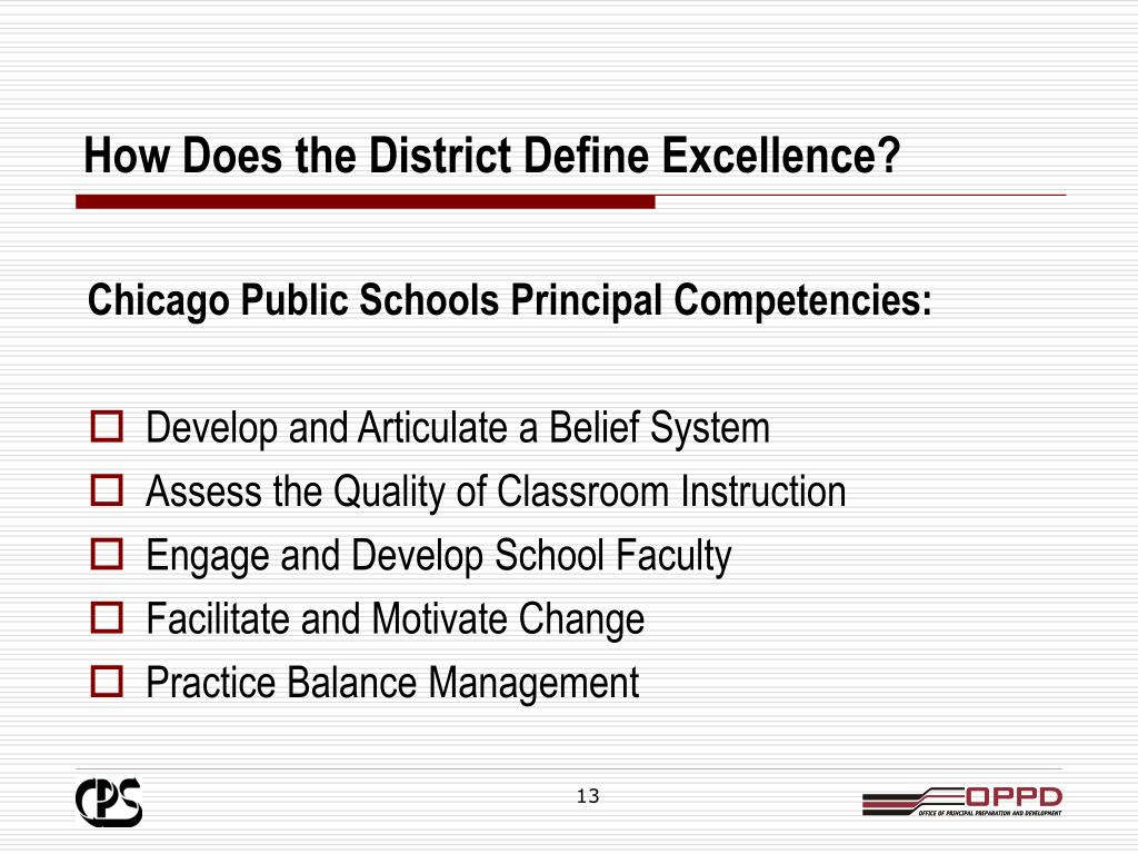 How Does the District Define Excellence?