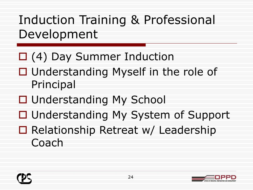Induction Training & Professional Development