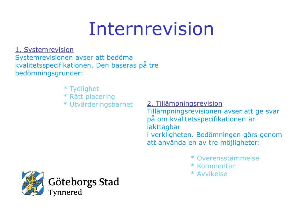Internrevision