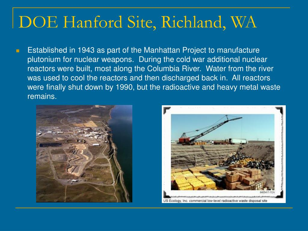 DOE Hanford Site, Richland, WA