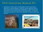 doe hanford site richland wa