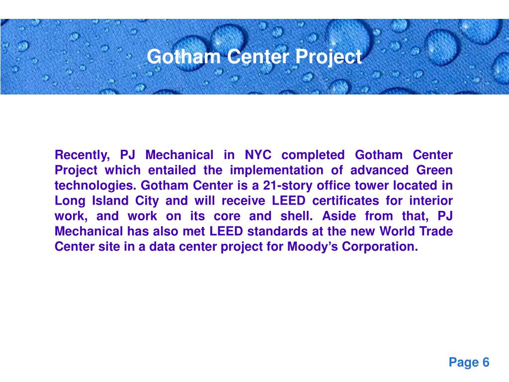 Gotham Center Project