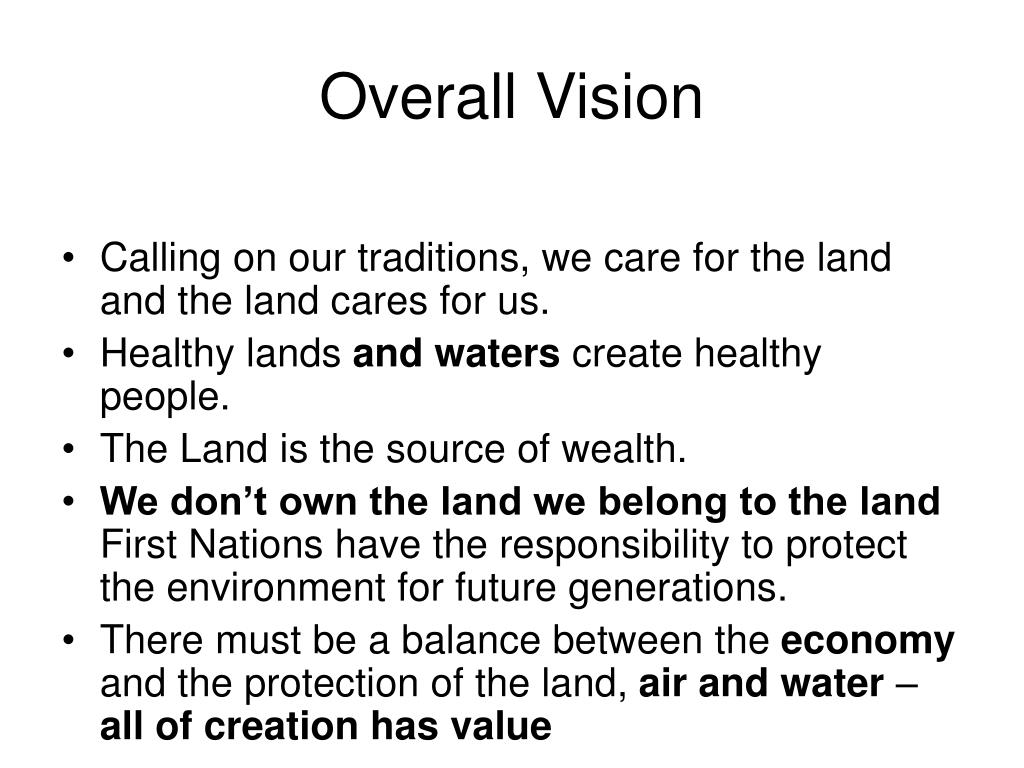 Overall Vision