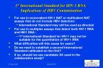 1 st international standard for hiv 1 rna implications of hbv contamination