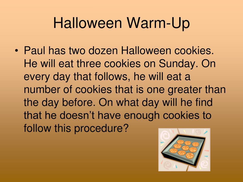 Halloween Warm-Up