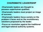 charismatic leadership19