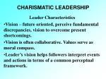 charismatic leadership23