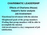 charismatic leadership38
