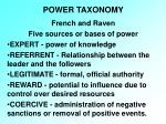 power taxonomy