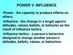 power v influence