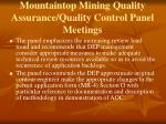 mountaintop mining quality assurance quality control panel meetings