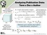 analyzing publication data term x doc x author