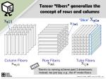 tensor fibers generalize the concept of rows and columns