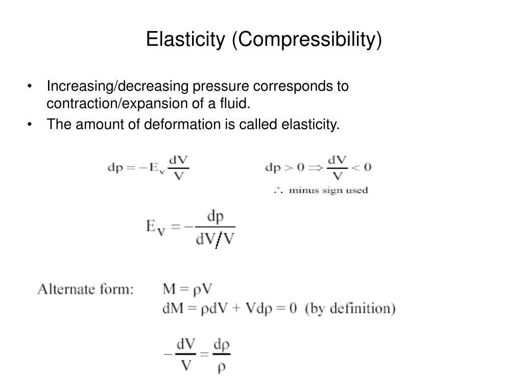 Elasticity (Compressibility)