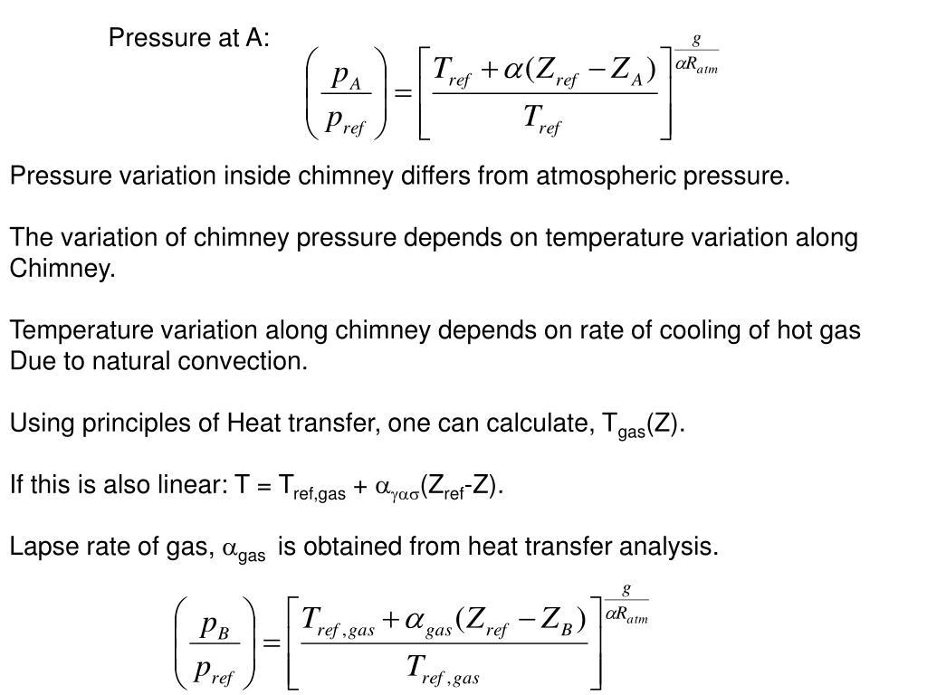 Pressure at A: