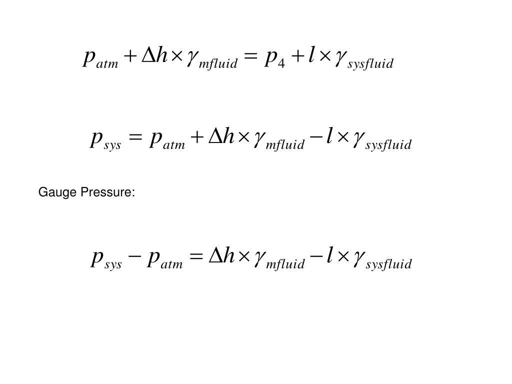 Gauge Pressure: