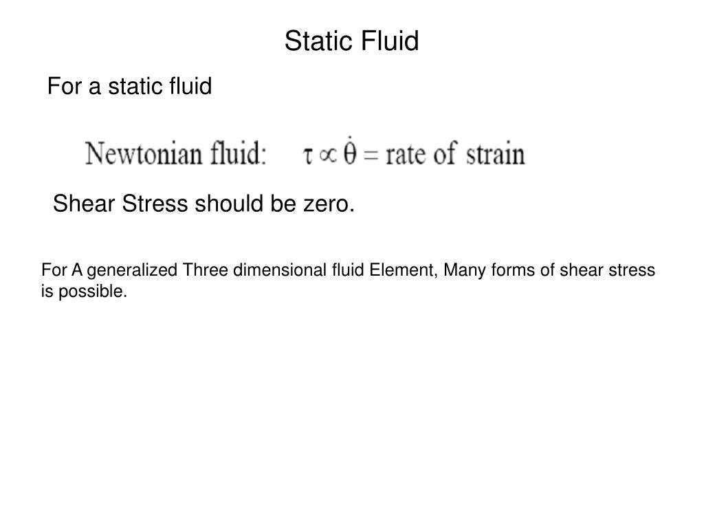 Static Fluid