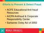 efforts to prevent detect fraud
