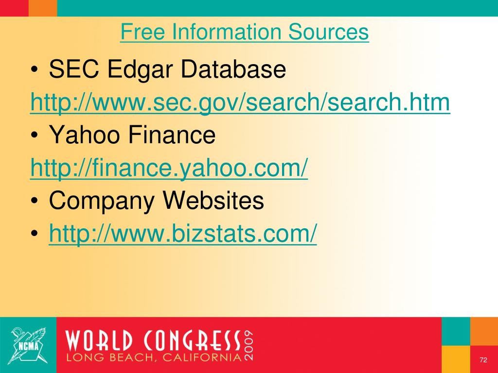 Free Information Sources