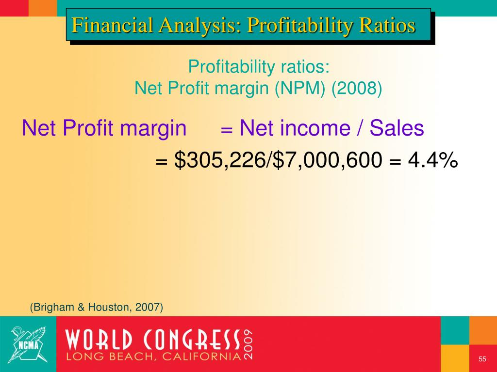 Financial Analysis: Profitability Ratios