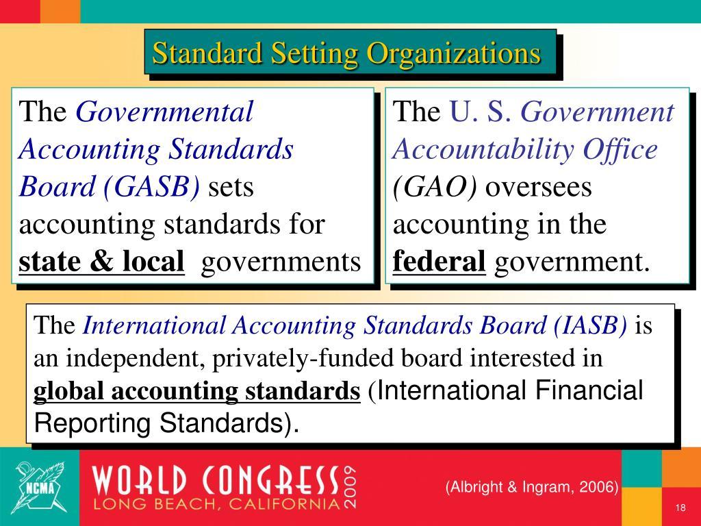 Standard Setting Organizations