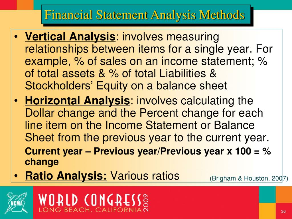 Financial Statement Analysis Methods
