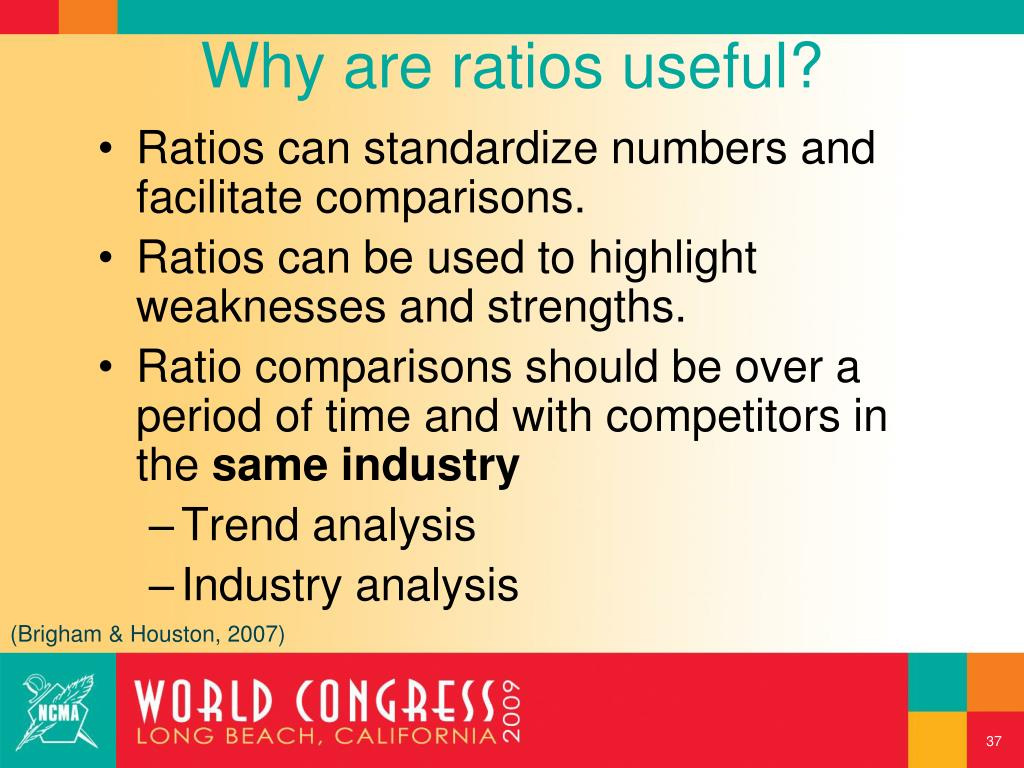 Why are ratios useful?