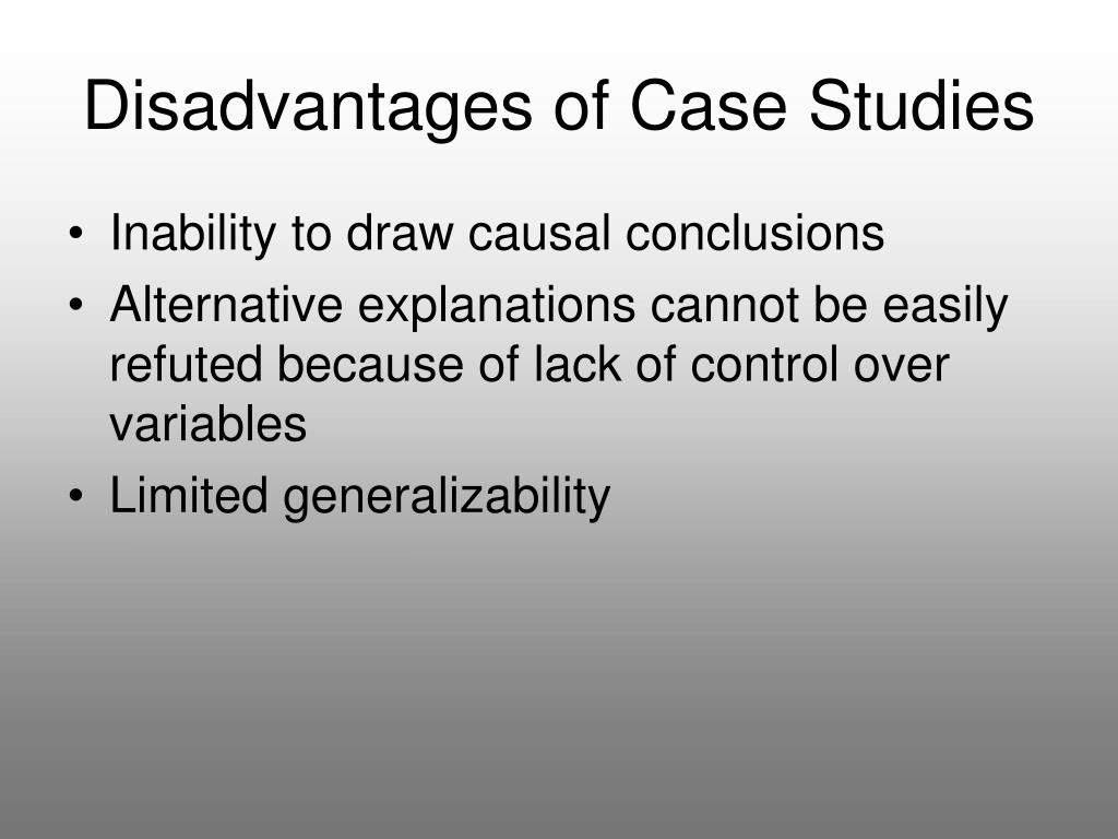 Disadvantages of Case Studies