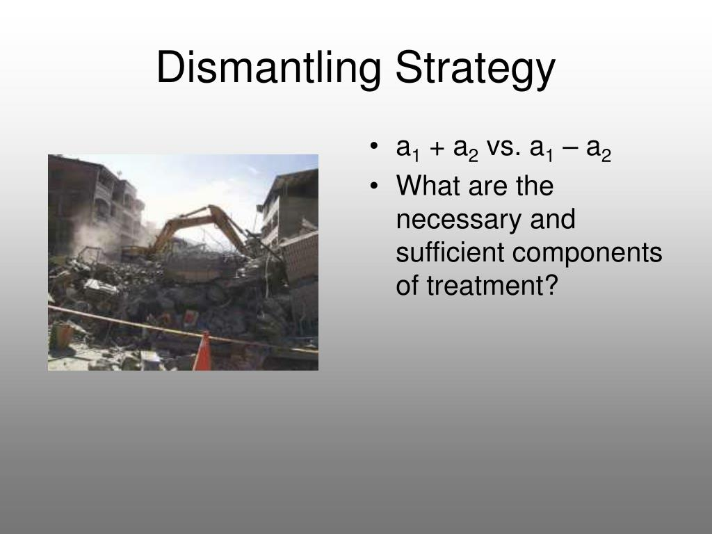 Dismantling Strategy