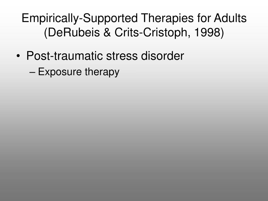 Empirically-Supported Therapies for Adults