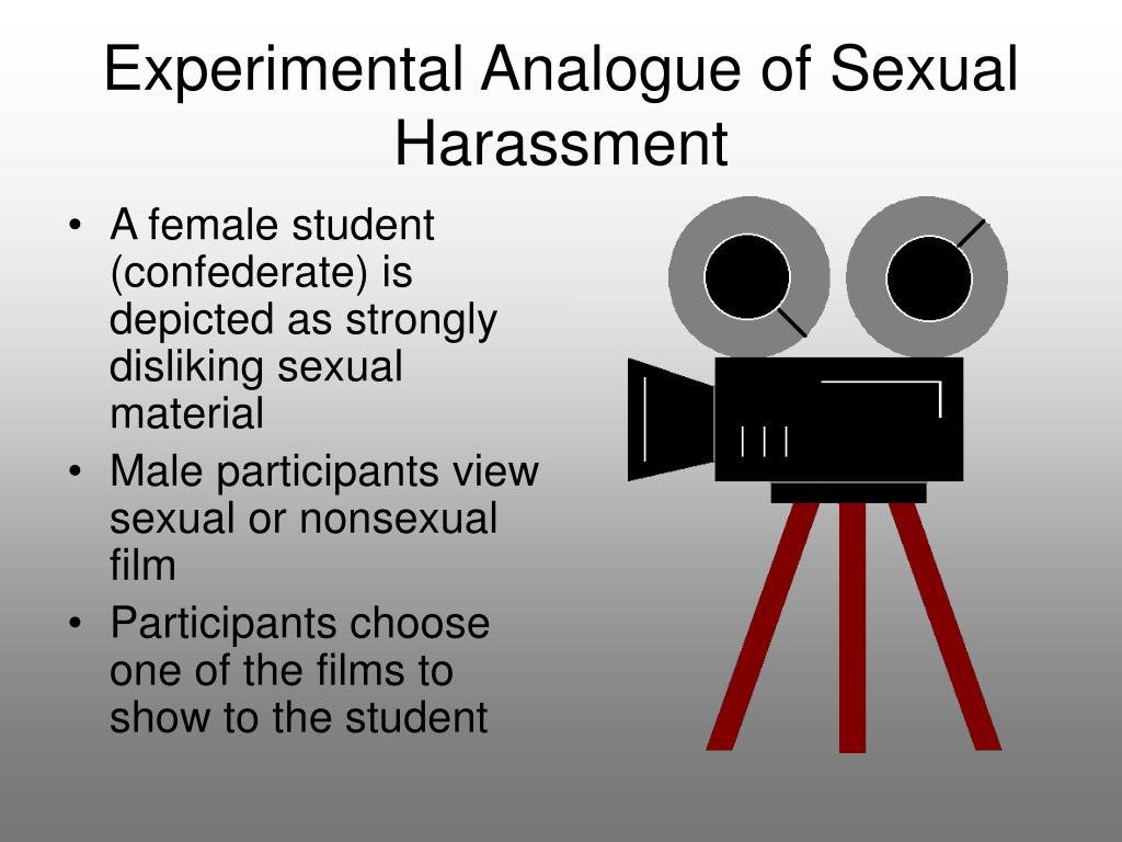 Experimental Analogue of Sexual Harassment