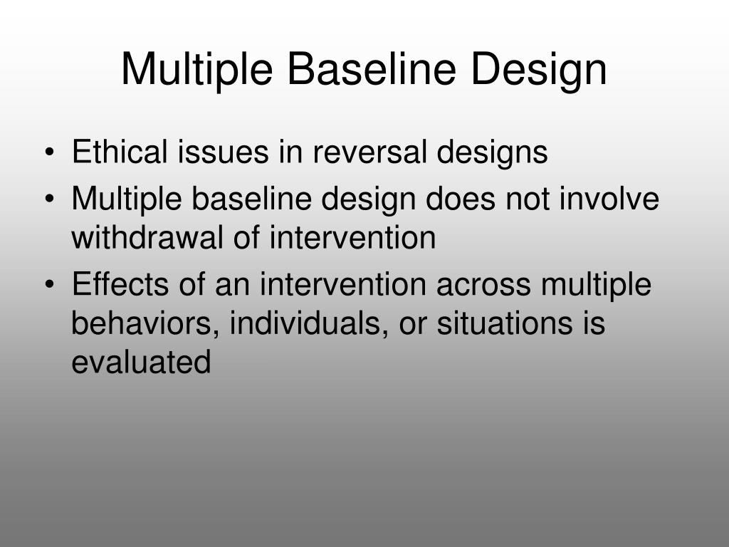 Multiple Baseline Design